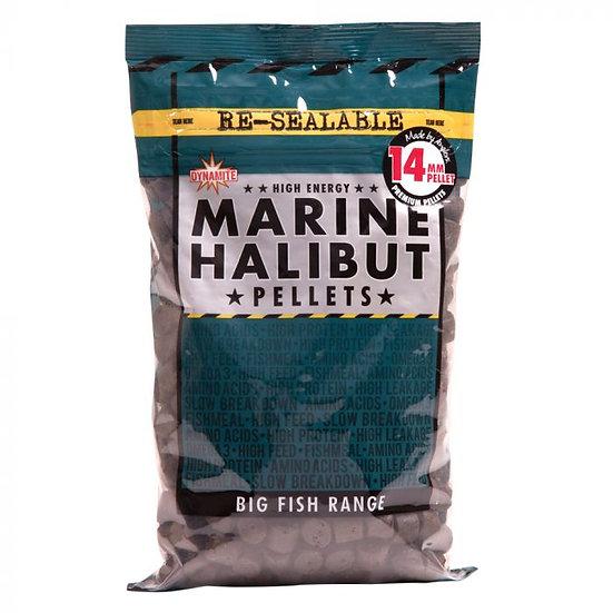 Dynamite 14mm Marine Halibut Pre Drilled Pellets - 900g