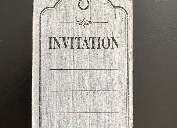Tampons bois invitation