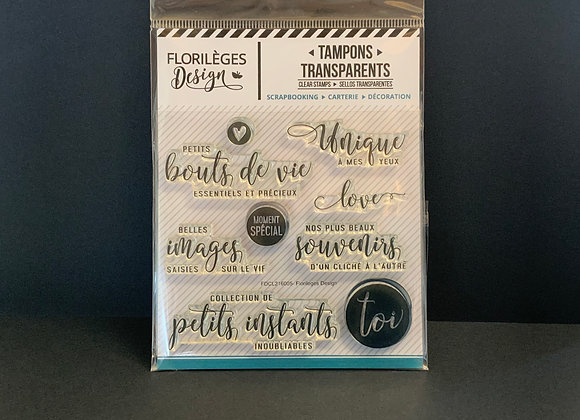 Florilèges Design Tampons transparents