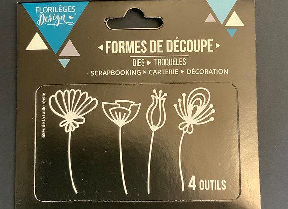 Florilèges Design Dies 4 outils