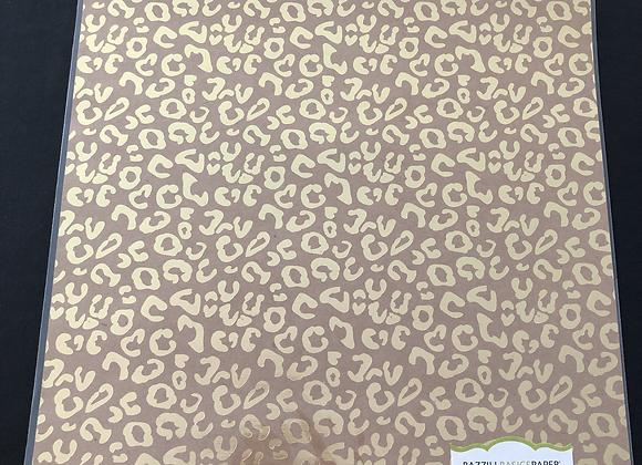 Papier Kraft laminé léopard OR