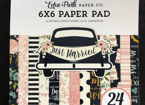 Just Married Paper Pad