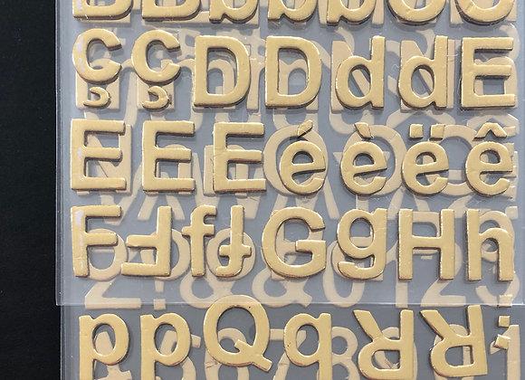 Alphabet doré x 165