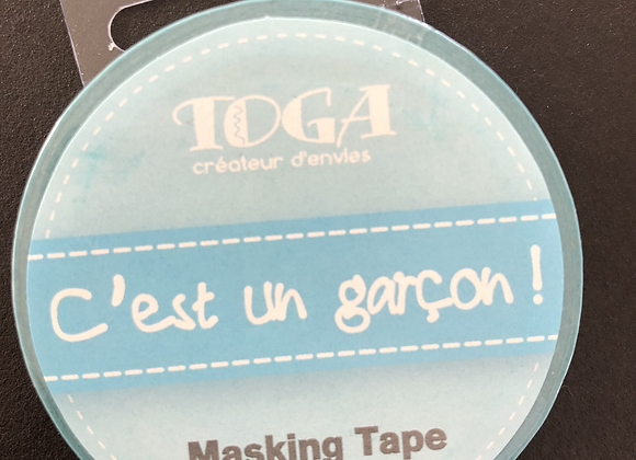 Masking Tape c'est un garçon ! bleu