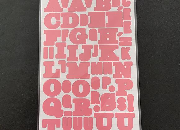 Alphabet autocollant - rose