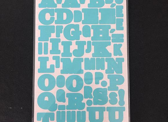 Alphabet autocollant - bleu
