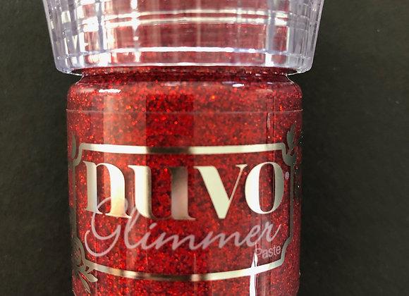 NUVO Glimmer Paste -Garnet Red