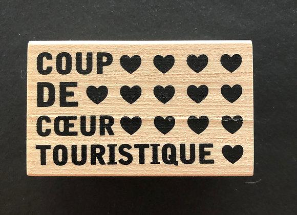 Tampon Bois Coup de coeur touristique