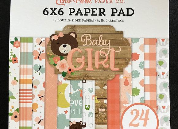 Baby Girl paper pad