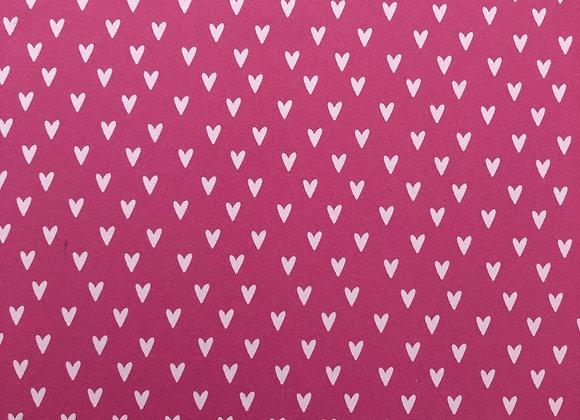 Vintage Cerise mini hearts