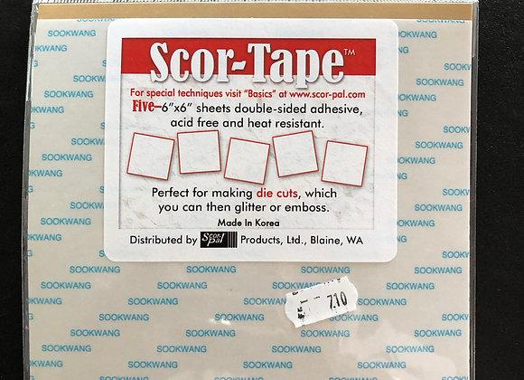 Scor-Tape 5 feuilles adhésive double-face