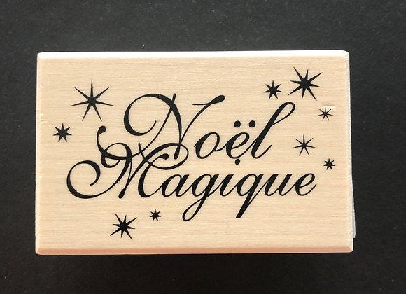 Tampon Bois - Noël Magique