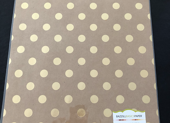 Papier Kraft laminé à pois OR
