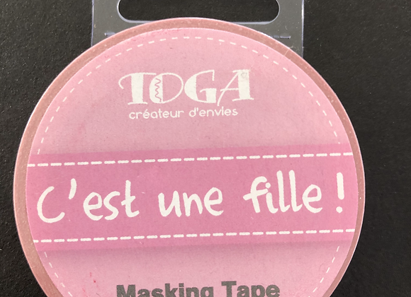 Masking Tape c'est une fille! rose