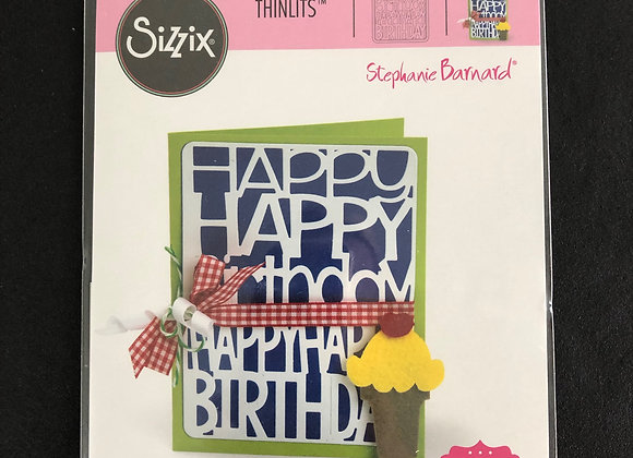 Sizzix thinlits 2 dies Happy Birthday