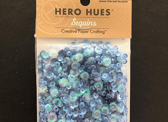 """Sequins """"bleu transparent"""""""