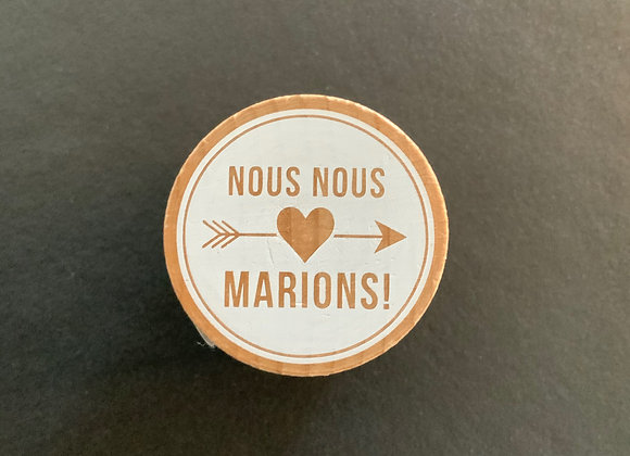 Tampon Woodies - nous nous marions