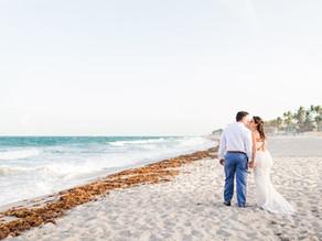 Mr. and Mrs. Reinstein's beach wedding at Wyndham Deerfield Beach Resort