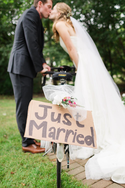 just married tandum bike