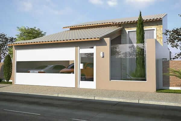 renderização de fachada de casa