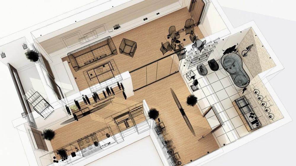 planta baixa humanizada de residencia