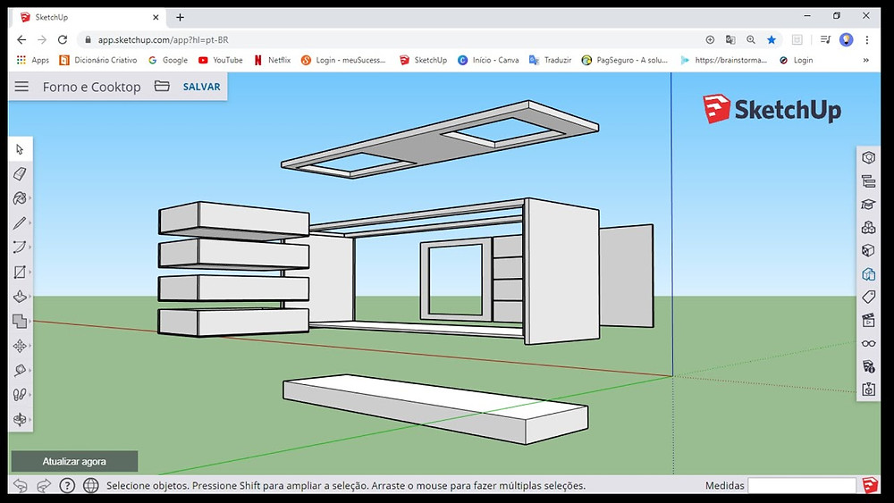 Viewport do software SketchUp