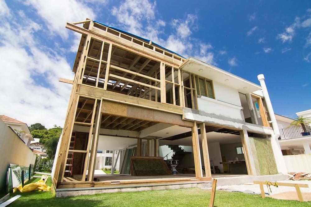 construção wood frame