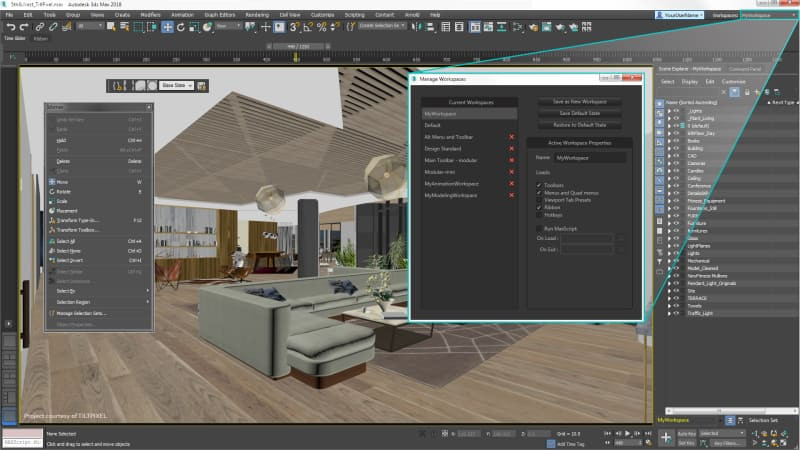 Viewport do software 3ds Max