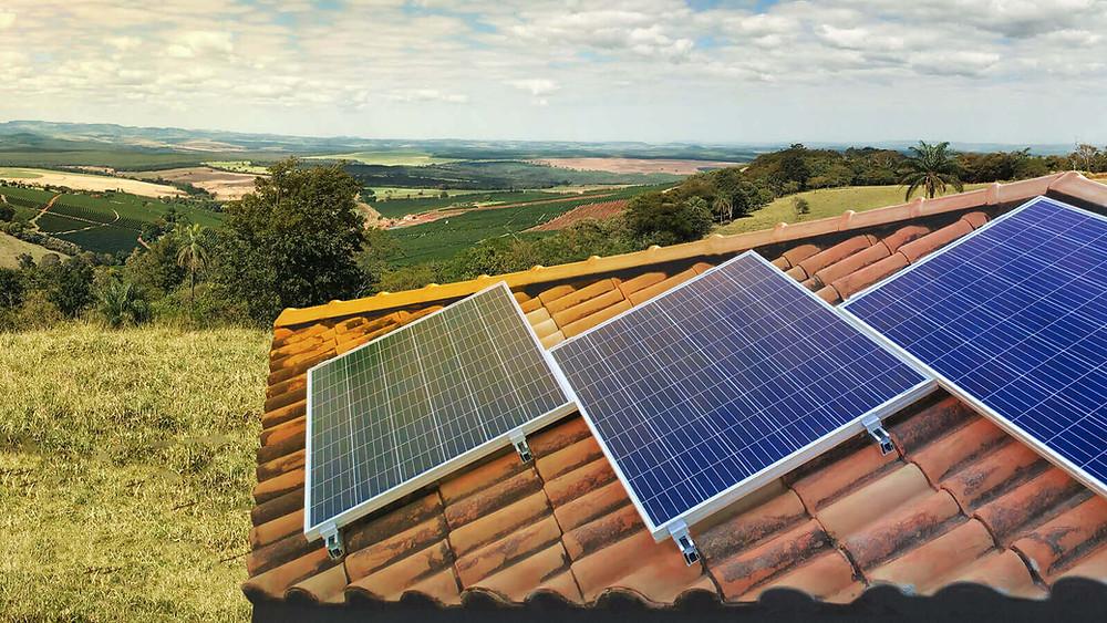 painel solar em residencia