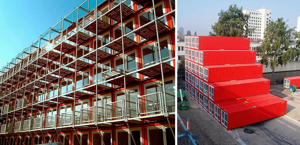 vila de containers keetwonen na Holanda