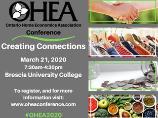 Ontario Home Economics Association (OHEA) Conference