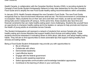 New Volunteer Opportunity with Dietitians of Canada
