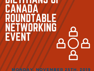 Dietitians of Canada Roundtable Networking Event