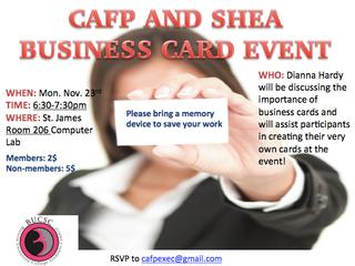 CAFP & SHEA Business Card Event