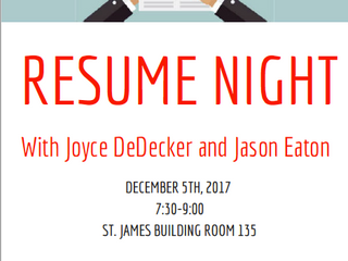 Join us for our Resume Night!