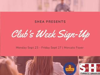 Club's Week