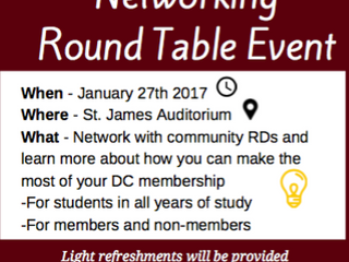 Dietitians of Canada Networking Round Table Event