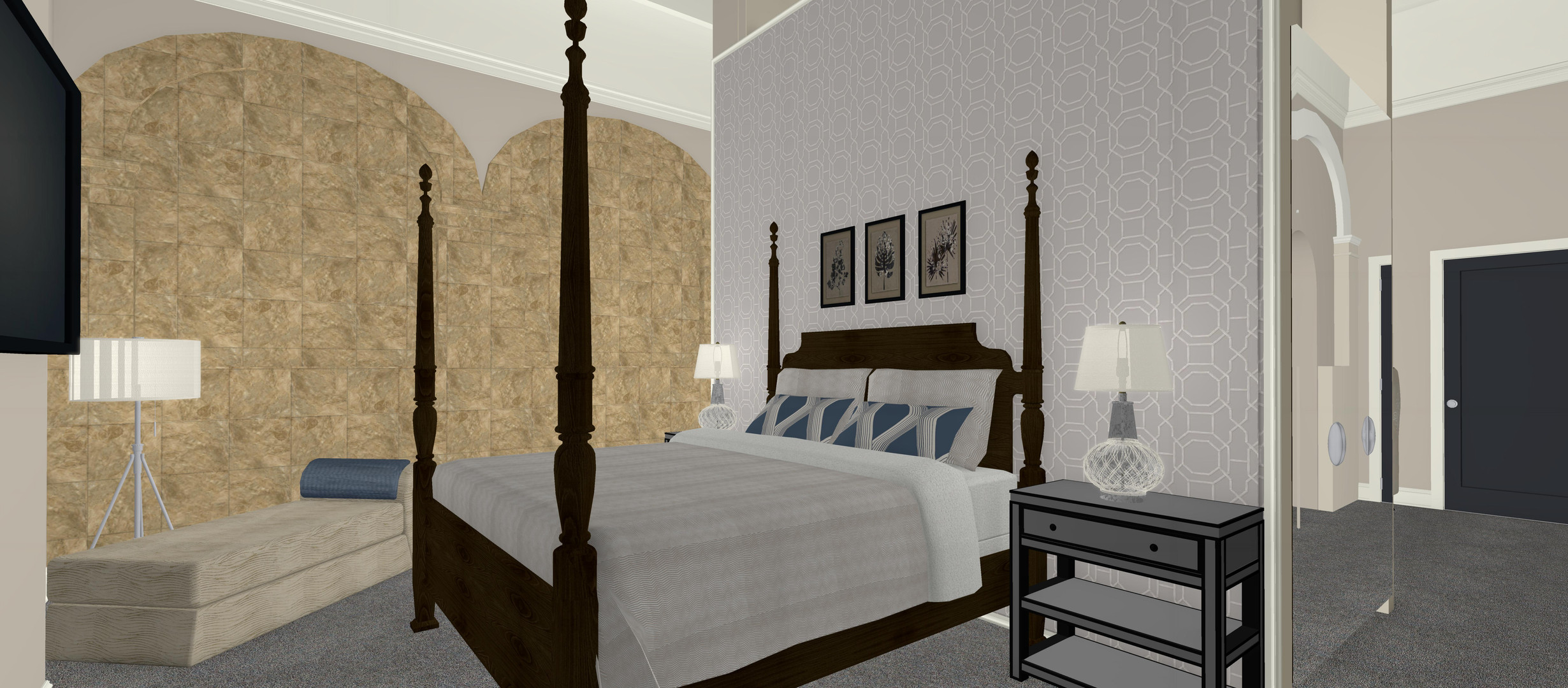 The Shrubbery Family Suite Bedroom