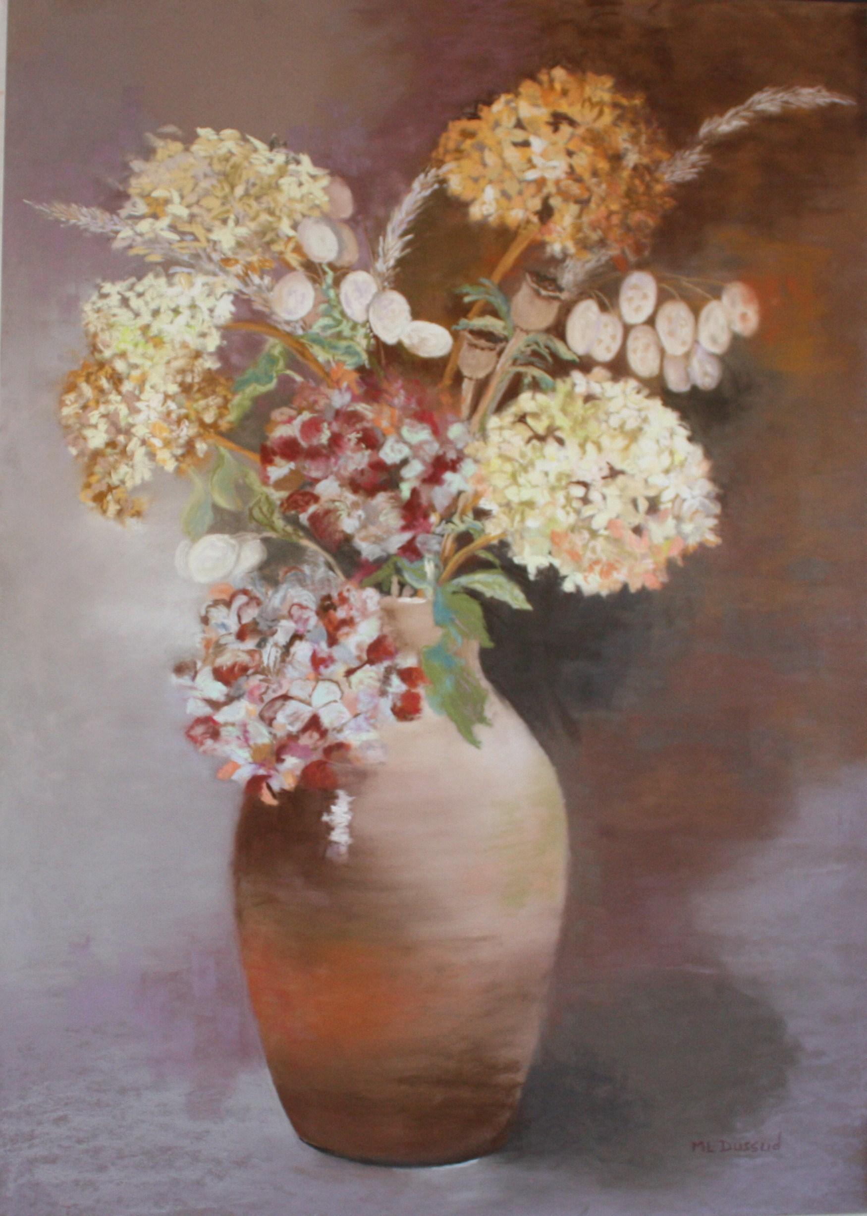 Bouquet d'automne  pastel 65 x 50 cm