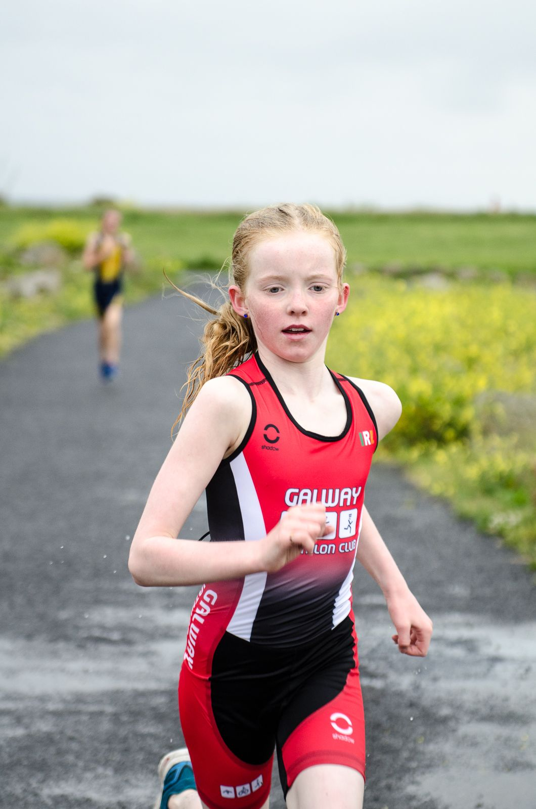 Caoimhe O Brien testing out her new GTC Kit at the Junior training session last