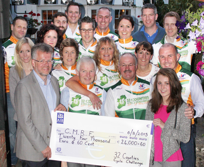 32 Counties Fundraising Cycle raises €22,000 for Crumlin Children's Hospital