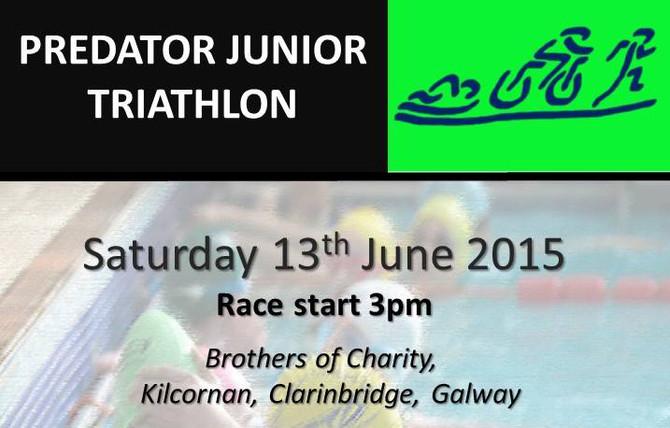 Predator Junior Triathlon Sat June 13th