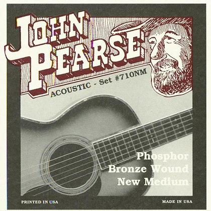 JOHN PEARSE 710NM PHOSPHOR BRONZE NEW MEDIUM ACOUSTIC GUITAR STRINGS