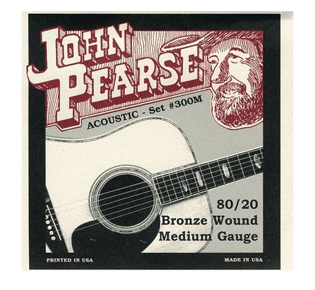 John Pearse Medium 13-56 Acoustic Guitar String Set