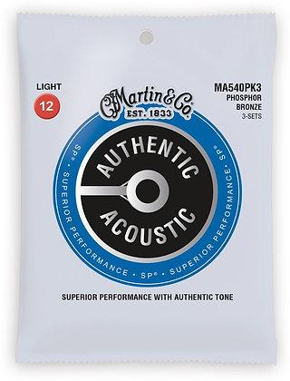 Martin Phosphor Bronze Authentic Acoustic Light 3-pack