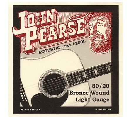 John Pearse 80/20 Bronze Light Strings