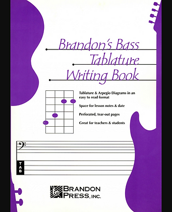 Brandon's Bass Tablature Writing Book