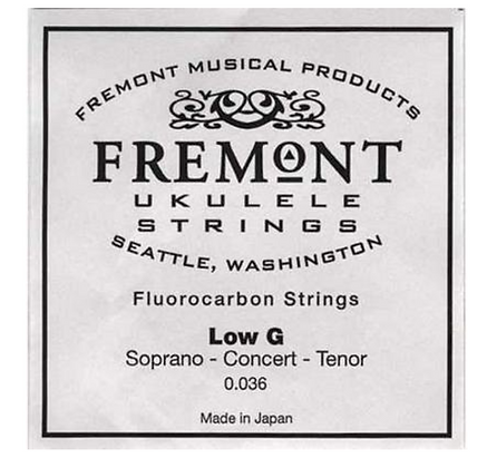Fremont Clear Fluorocarbon Low G String Single