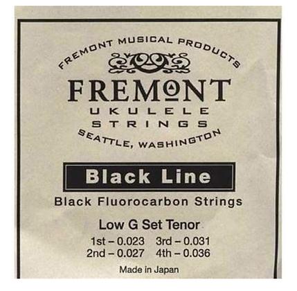Fremont Tenor Black Fluorocarbon Ukulele String Set with Low G