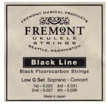 Fremont Soprano/Concert Black Fluorocarbon Medium Ukulele String Set with Low G